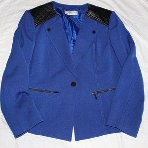 Tahari blue blaze with leather details